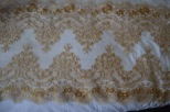 copper gold panelled lace